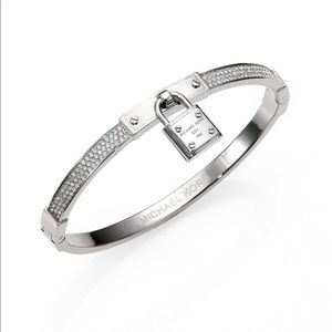 Michael Kors Silver Padlock Charm Bracelet